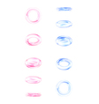 Phases of a falling glass ring design elements vector image