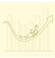 sketchy businessman on graph vector image