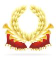 laureate wreath vector image vector image