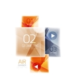 Glass square web box infographics banner vector image