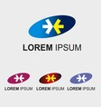 Elip logo template with arrow icon vector image