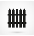fence icon black on white background vector image