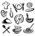 Kitchen cook chef hat vector image