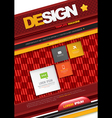 Modern abstract brochure book corporate cover vector image