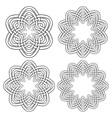 Set of magic knotting rings 4 circular decorative vector image
