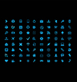 Blue icon set vector image