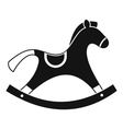 Rocking horse icon simple style vector image
