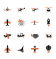 air transport icon set vector image