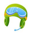 icon helmet vector image vector image