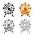 ferris wheel icon cartoon single building icon vector image