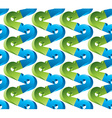 3d arrows seamless pattern blue and green colors vector image