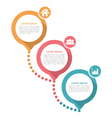Three Steps Diagram Template vector image