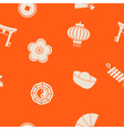 Seamless background with chinese New year icons vector image