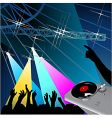 disco night vector image vector image