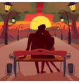 Love in the park vector image