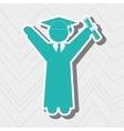 graduation celebration design vector image vector image