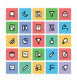 Education Square Icons 6 vector image