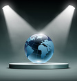 Earth is illuminated by floodlights vector image