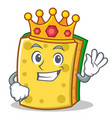 king sponge cartoon character funny vector image
