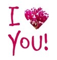 Lettering I love you outline with shadow vector image