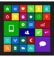 Set of metro icons vector image