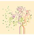 Swirl trendy spring tree vector image