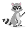 Funny raccoon vector image
