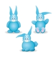 Large set of different rabbits vector image