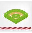 baseball game field vector image
