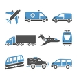 Transport Icons - A set of seventh vector image vector image