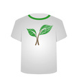 T Shirt Template- sketched seedling vector image