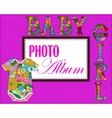 Baby photo album cover vector image