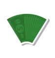 bills money isolated icon vector image