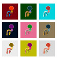 icons set in flat style male reproductive system vector image