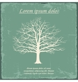 Old bare tree on vintage paper vector image