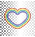 Rainbow icon heart vector image