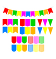Set festive flags vector image