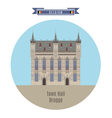 Town Hall Brugge vector image