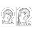 Virgin Oplechnaya outline7 8 vector image