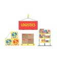 Warehouse Packs Storage Set vector image