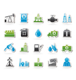 Oil industry Gas production transportation vector image