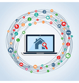 Web search forreal estate vector image