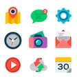 Basic Flat icon set for web and mobile application vector image