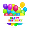 Colorful Balloons - Happy Birthday Background vector image vector image