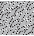 Black and White Twisted Ribbon Seamless Pattern vector image