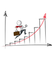 Simple Business People Exponential Growth Chart vector image