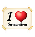 I love Switzerland vector image vector image
