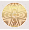Hand drawn maze labyrinth with eye in it vector image