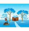 Lodge in wood vector image