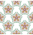 beauty pattern with floral ornament textile swatch vector image